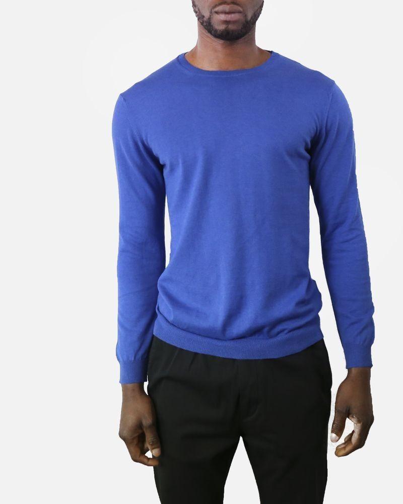 Pull bleu en coton Daniele Fiesoli