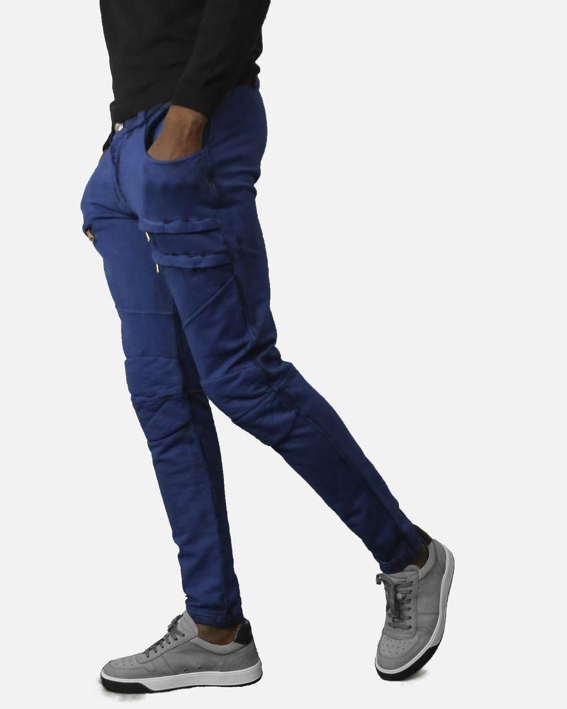 Jogging en coton bleu Balmain