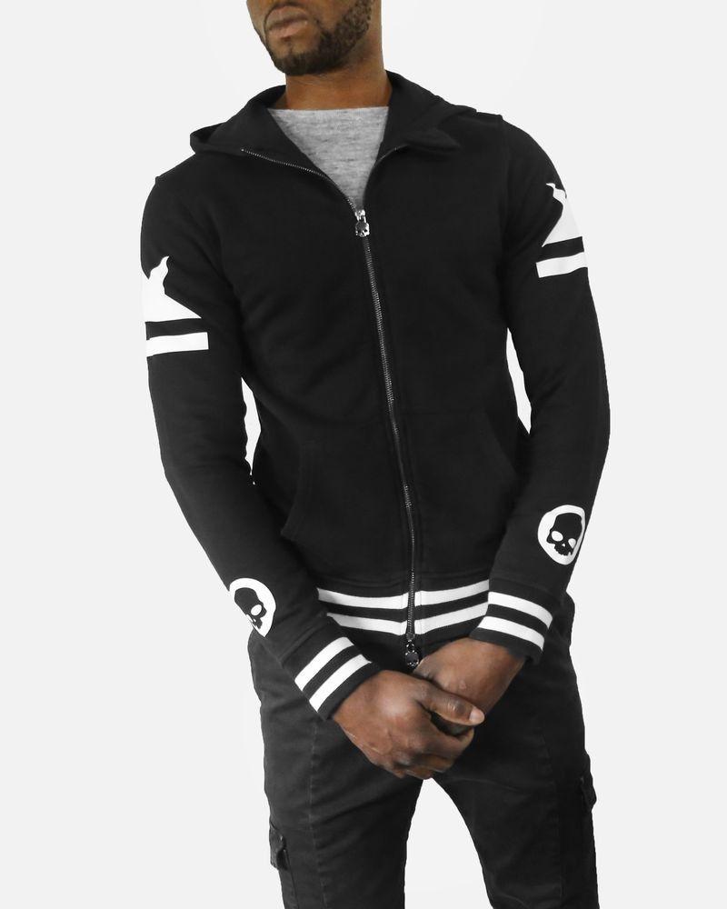 Veste en coton noir à détails blanc Hydrogen