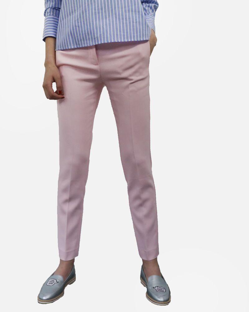 Pantalon à plis cassé rose pale Space Style Concept