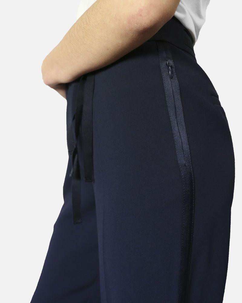 Pantalon palazzo bleu à rubans Laurel