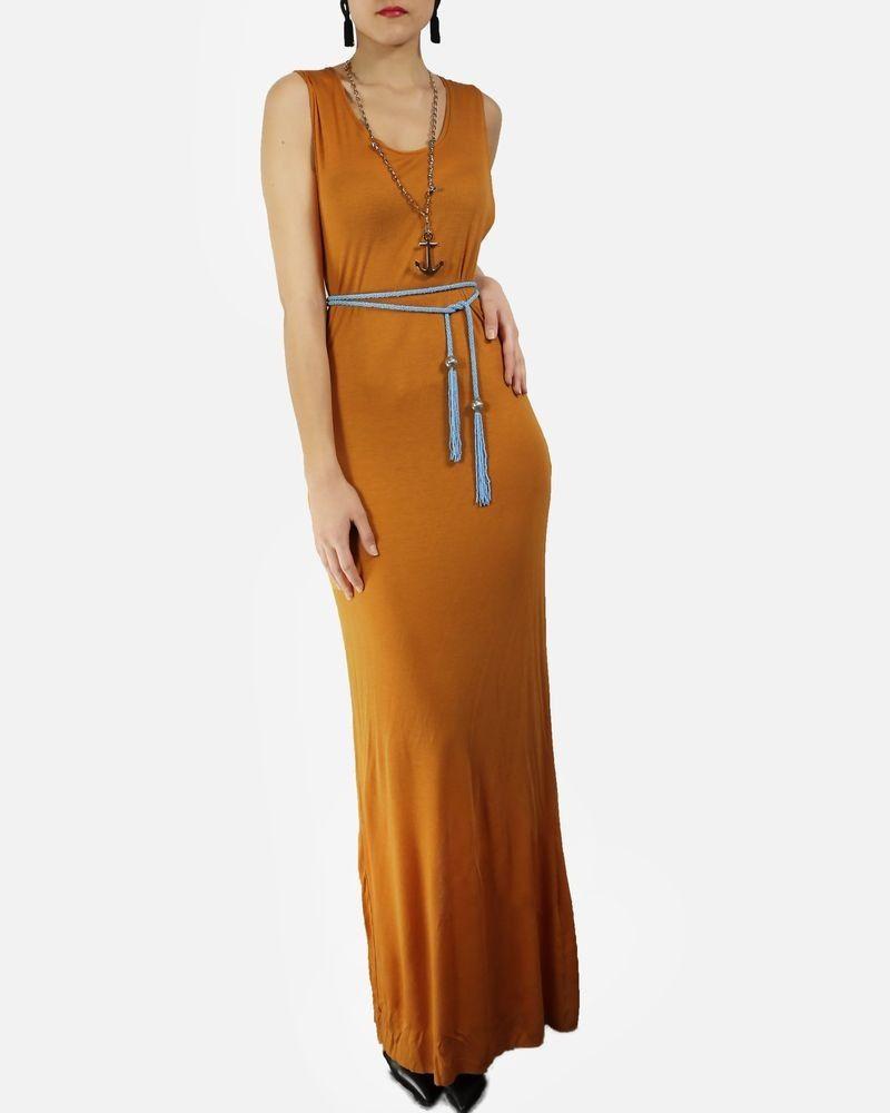 df149789aefb4 Robe débardeur en soie orange côtelée Damir Doma pas cher - Outlet ...