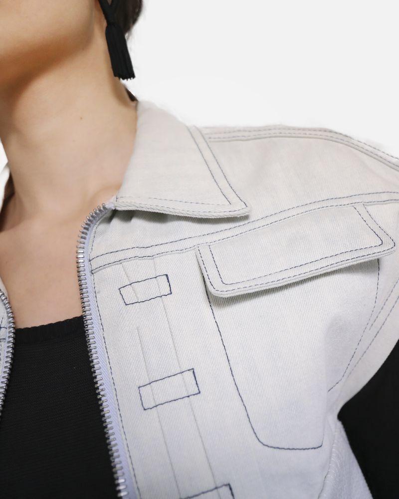 Veste en jean blanche sans manches Damir Doma