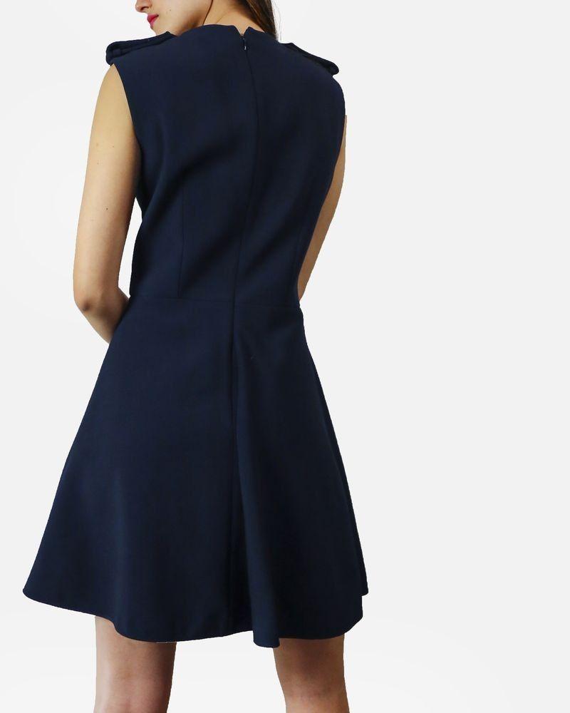 Robe bleue Alexander McQueen