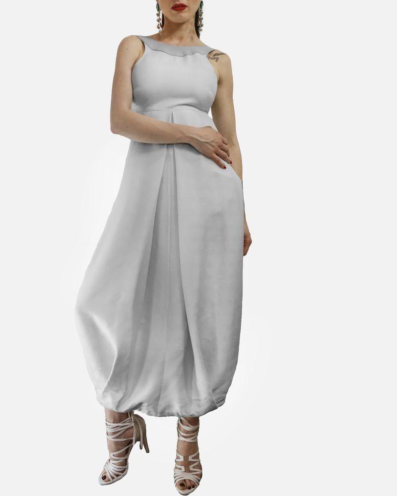 Robe blanche sans manches Damir Doma
