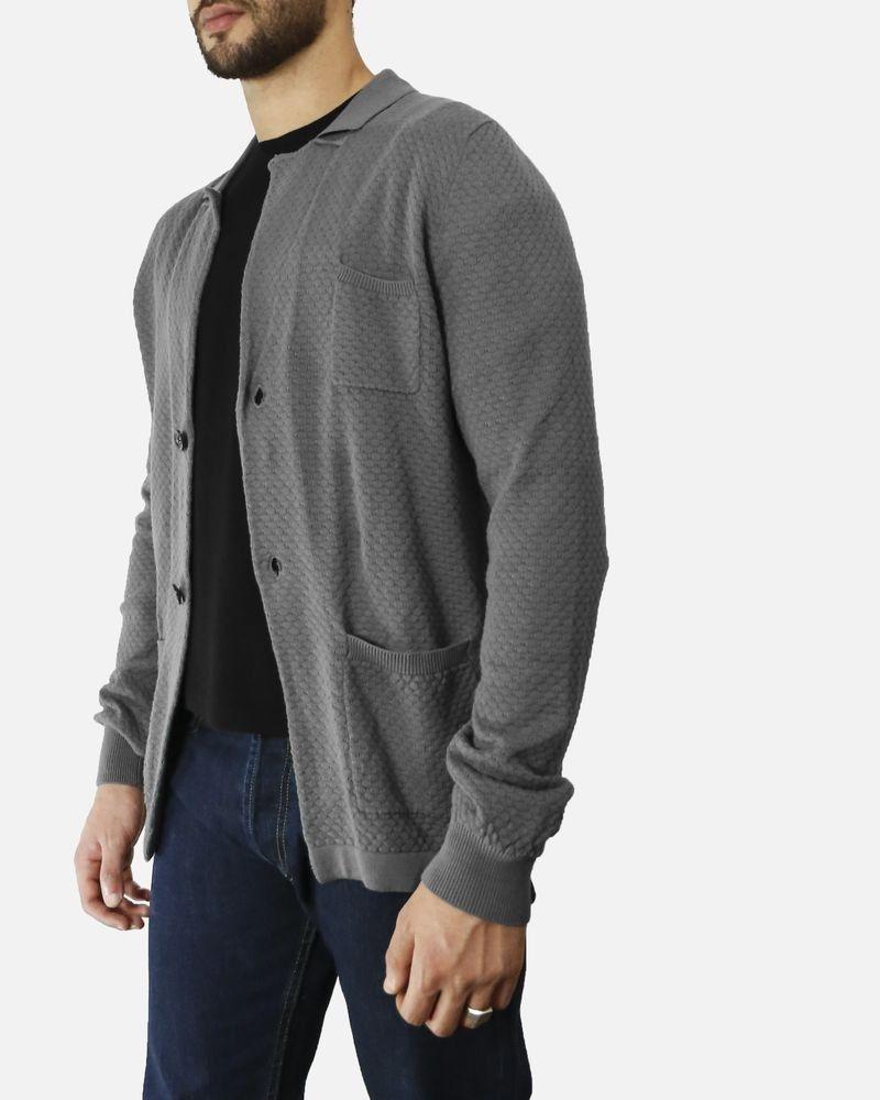 Gilet gris à motif tricoté Liu Jo