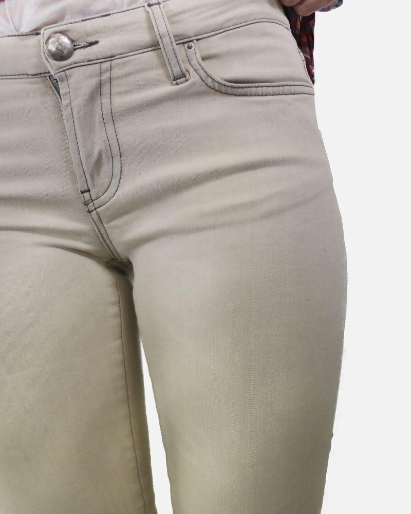 Pantalon skinny beige Mauro Grifoni