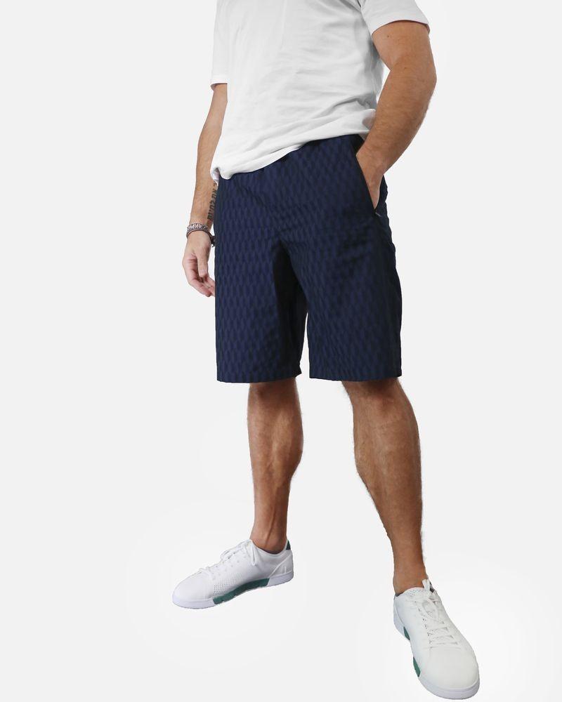 Short bleu à motif géométrique contrastant Low Brand