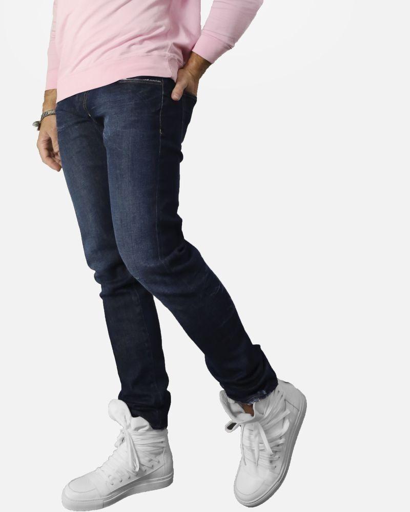 Jean bleu entaillé Low Brand