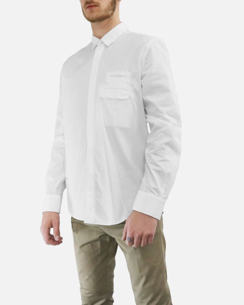 Chemise blanche à poches fantaisie Low Brand