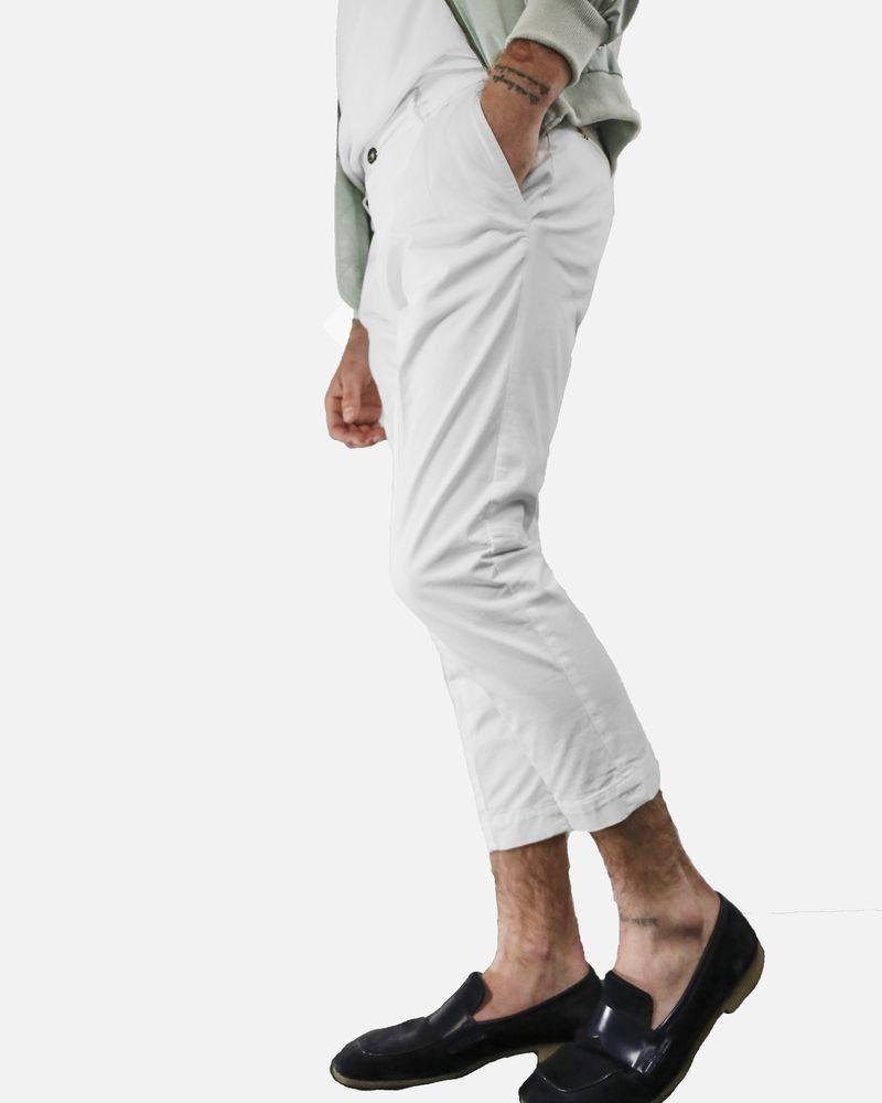 Pantalon carotte blanc Low Brand