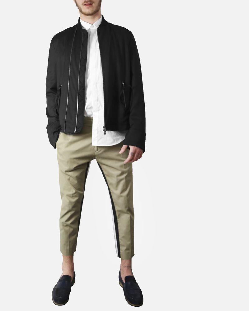 Pantalon à pince & bandes latérales noir/blanc Low Brand
