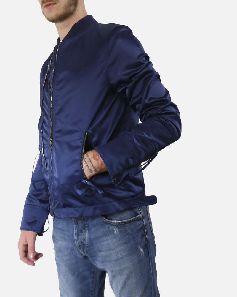 Blouson bleu John Galliano