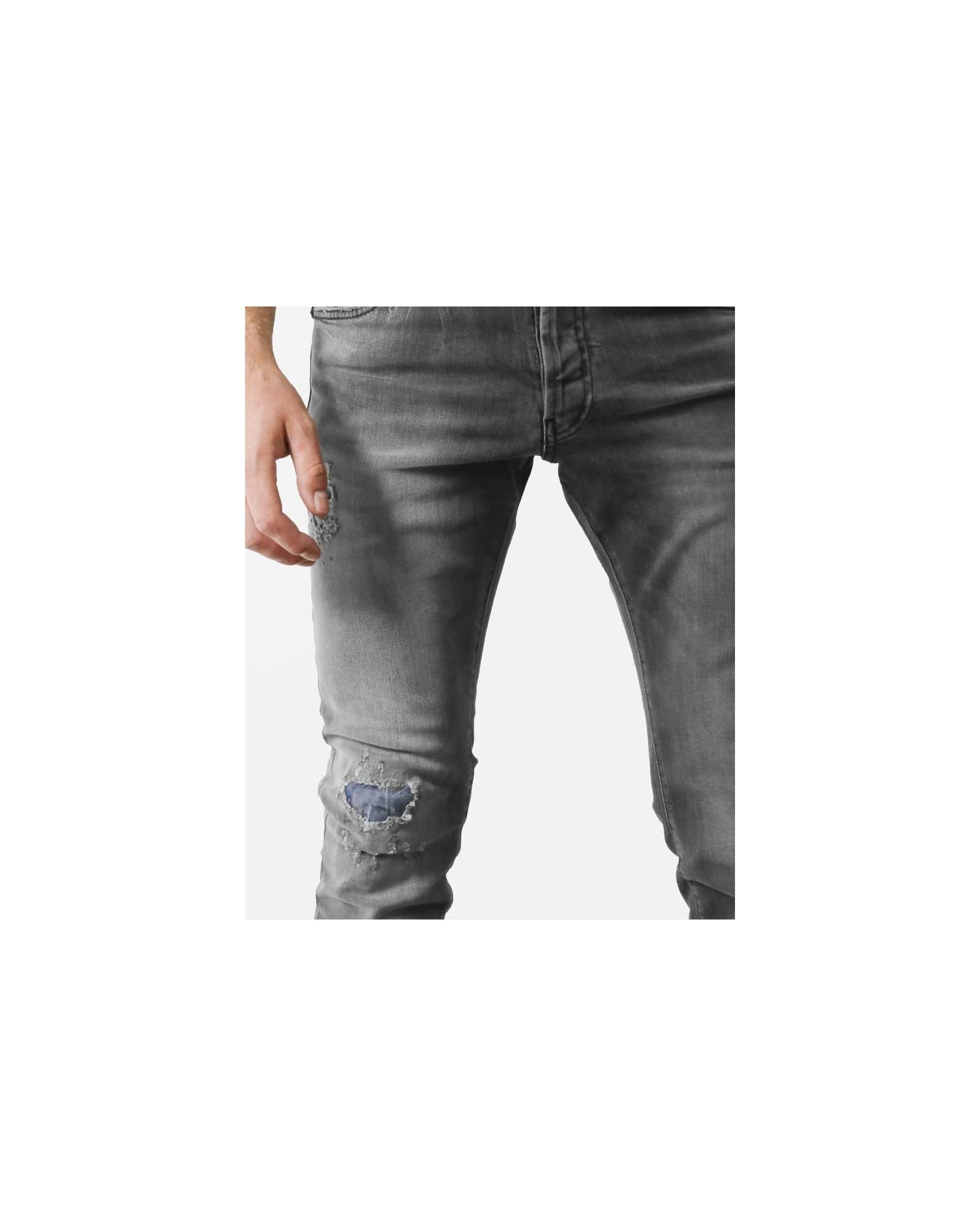 Jean en coton gris John Richmond