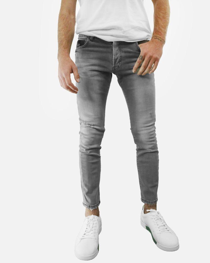 Jean skinny en coton gris John Richmond