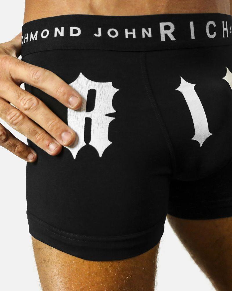 """Boxer en jersey coton noir """"Rich"""" John Richmond"""