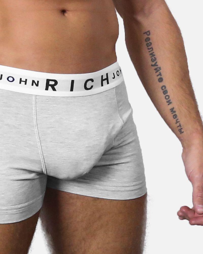 Boxer en jersey coton gris John Richmond