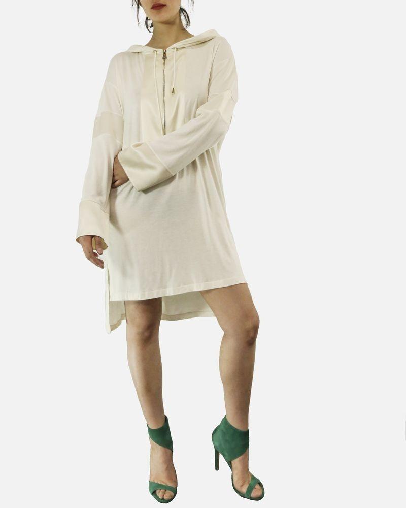 Robe en soie blanche & beige Givenchy