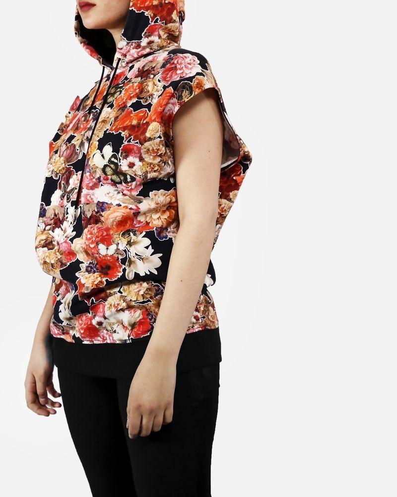 Sweat sans manches noir fleurie Givenchy