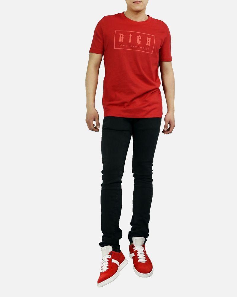 T-Shirt en coton rouge John Richmond