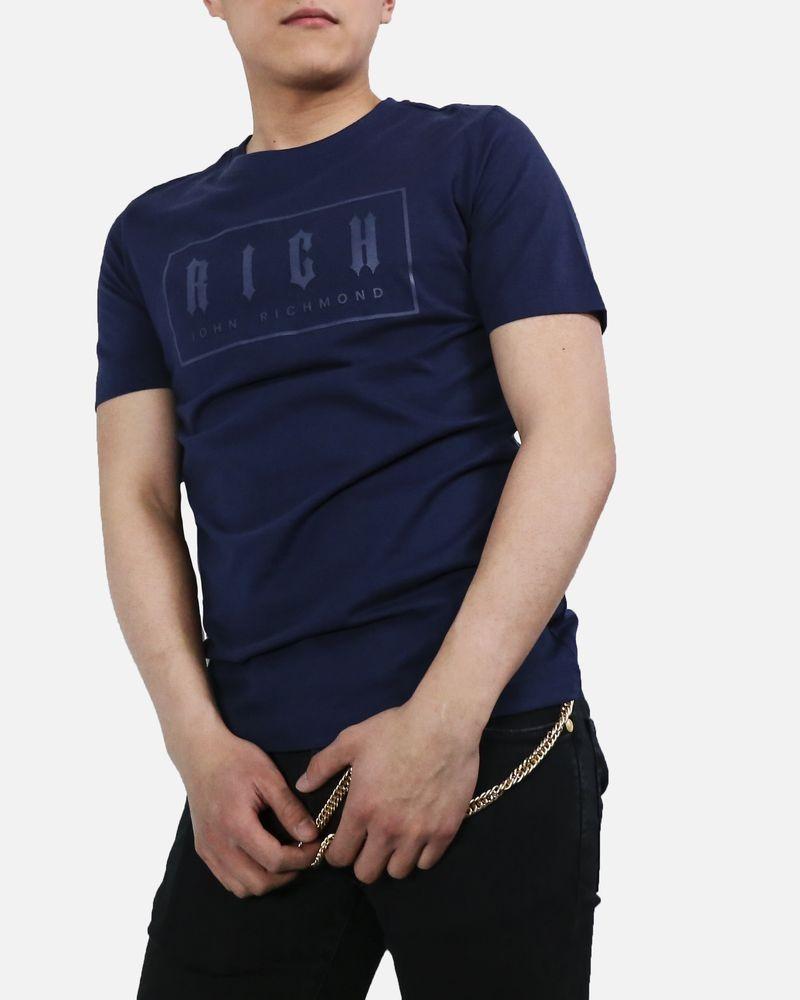 T-Shirt en coton bleu John Richmond