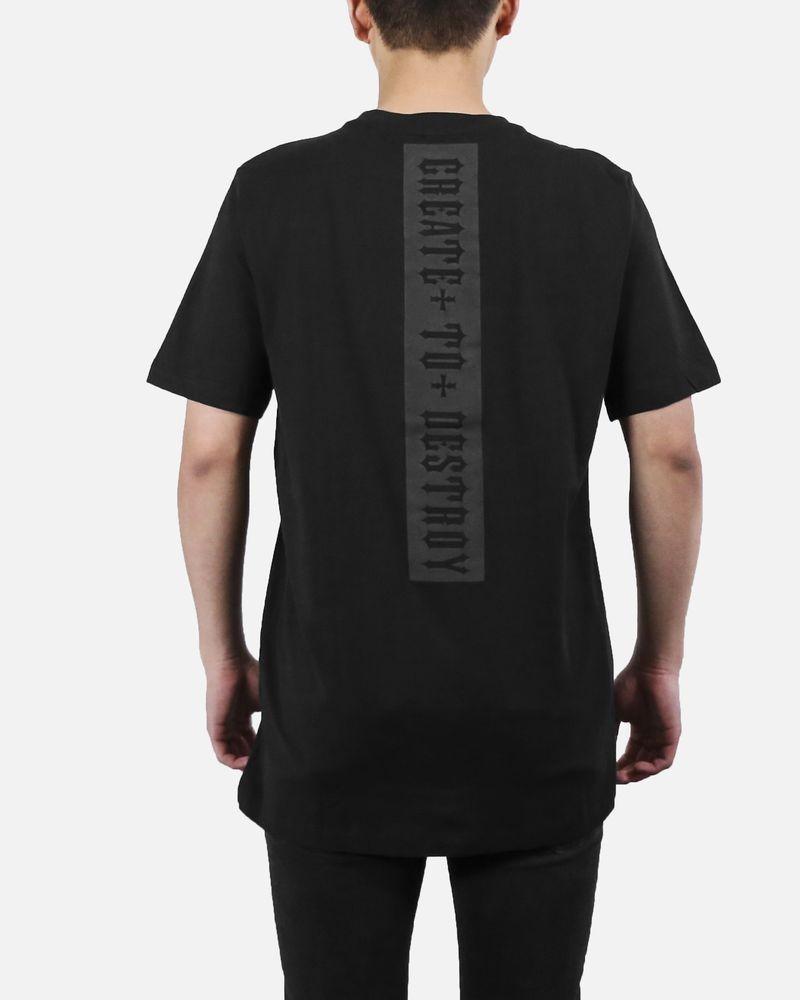 T-Shirt en coton noir John Richmond