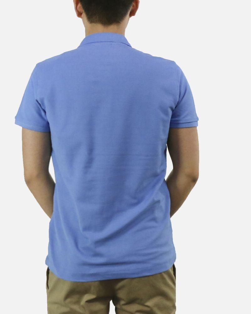 Polo bleu à flocage « Rich » John Richmond