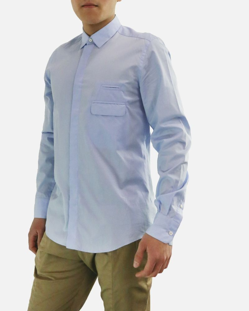 Chemise bleu ciel à poches fantaisie Low Brand
