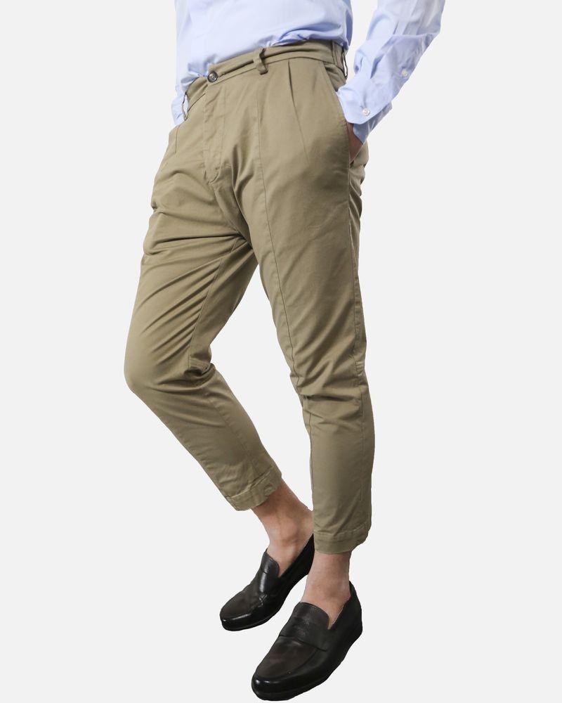 Pantalon carotte beige Low Brand
