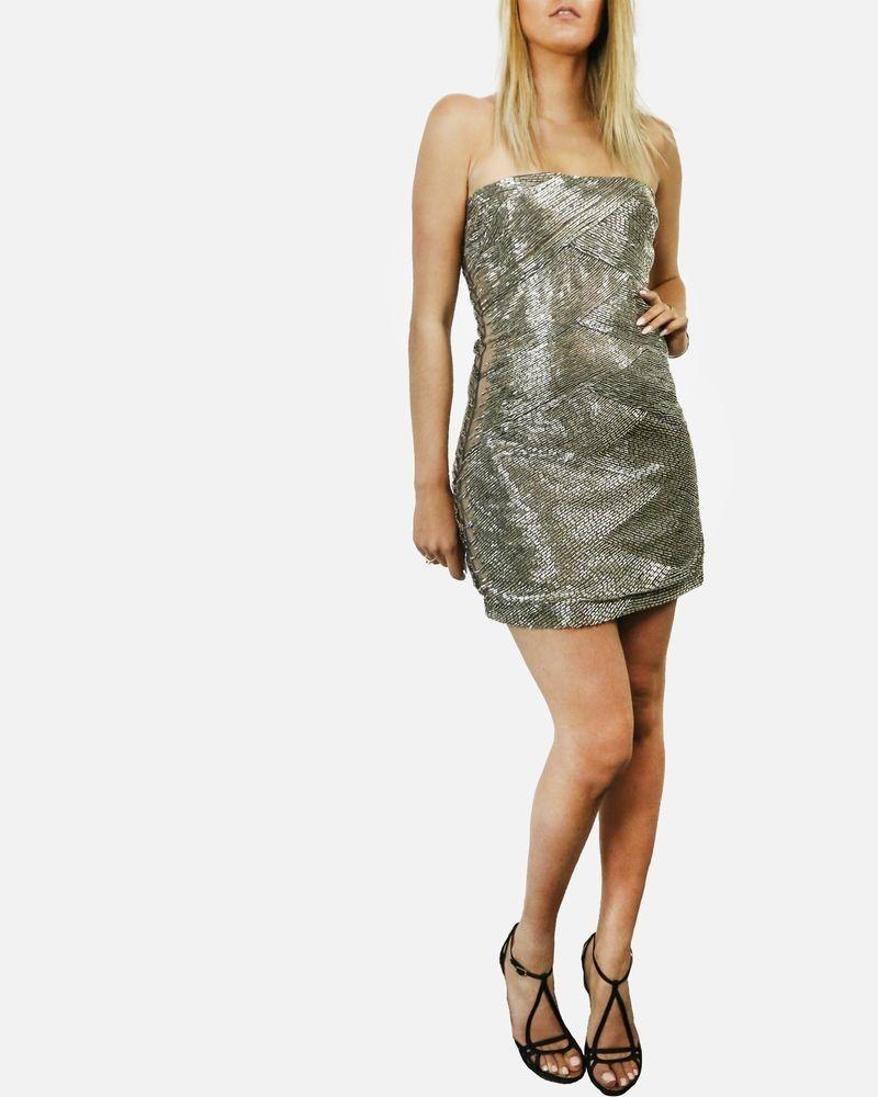 Robe haute couture bustier beige à perles brodées Valentino