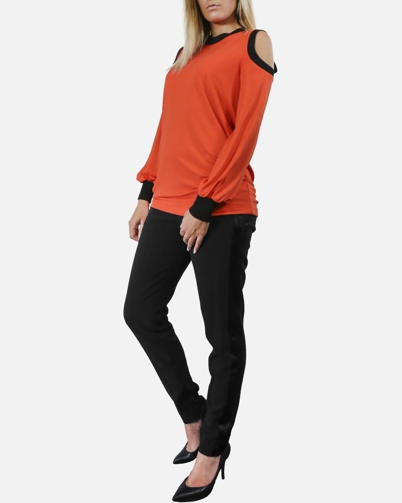 Top a épaule nue orange Givenchy
