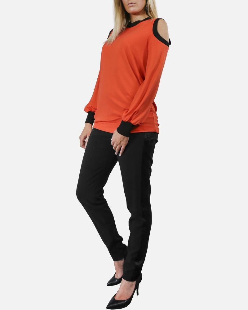 Top a épaule nue orange Givenchy