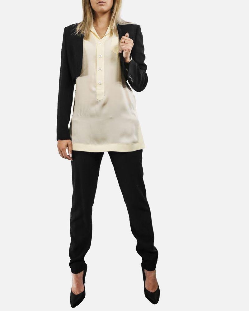 Veste tailleur courte noir Givenchy