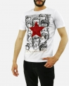 "T-Shirt blanc ""David Bowie"" John Richmond"