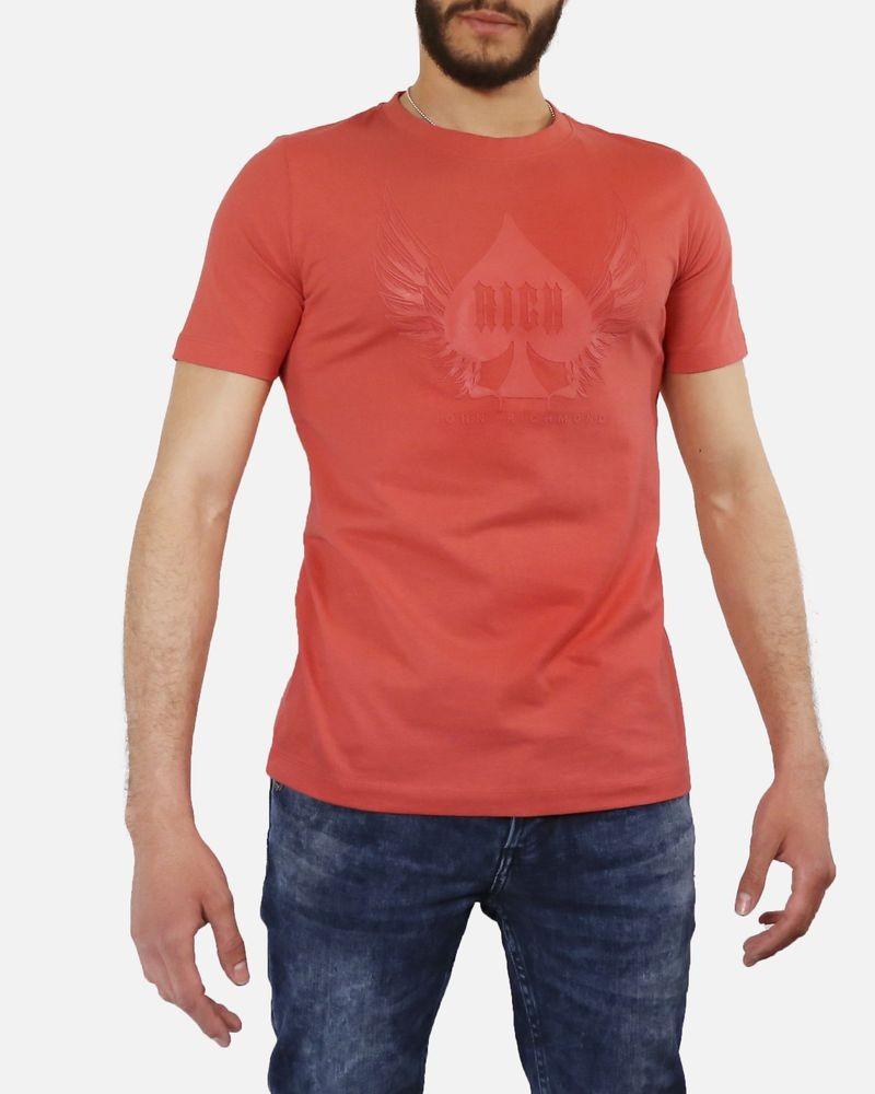 T-Shirt corail Rich John Richmond