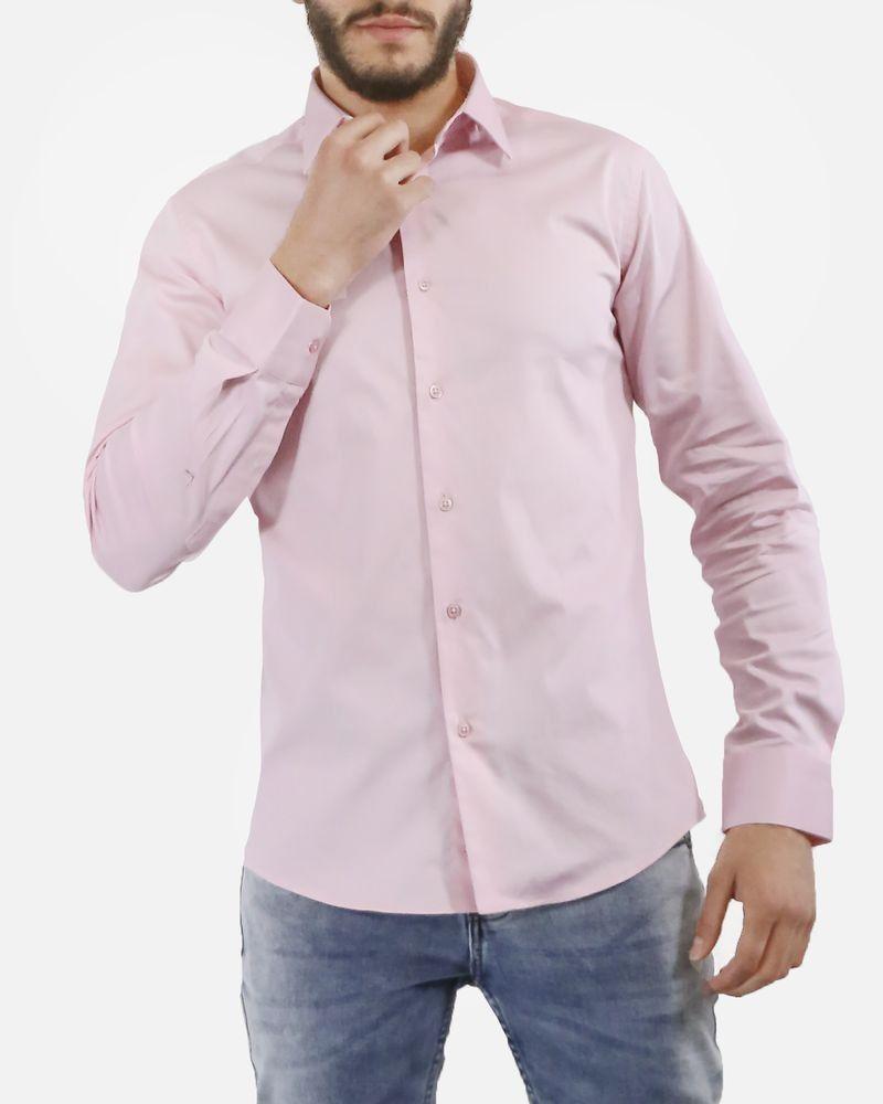 Chemise en coton rose Chrom