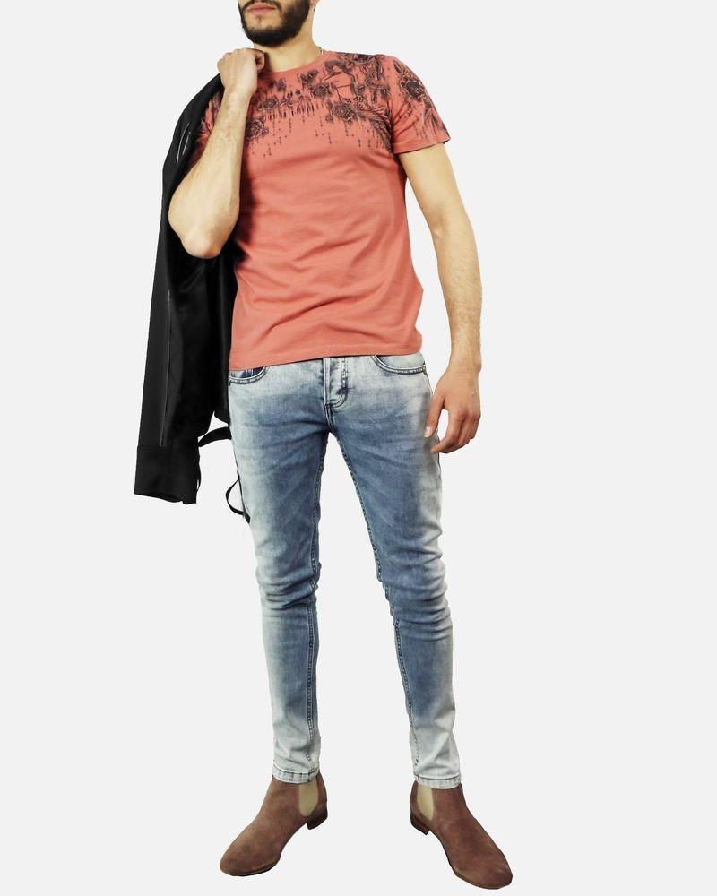 T-Shirt rouge Roberto Cavalli