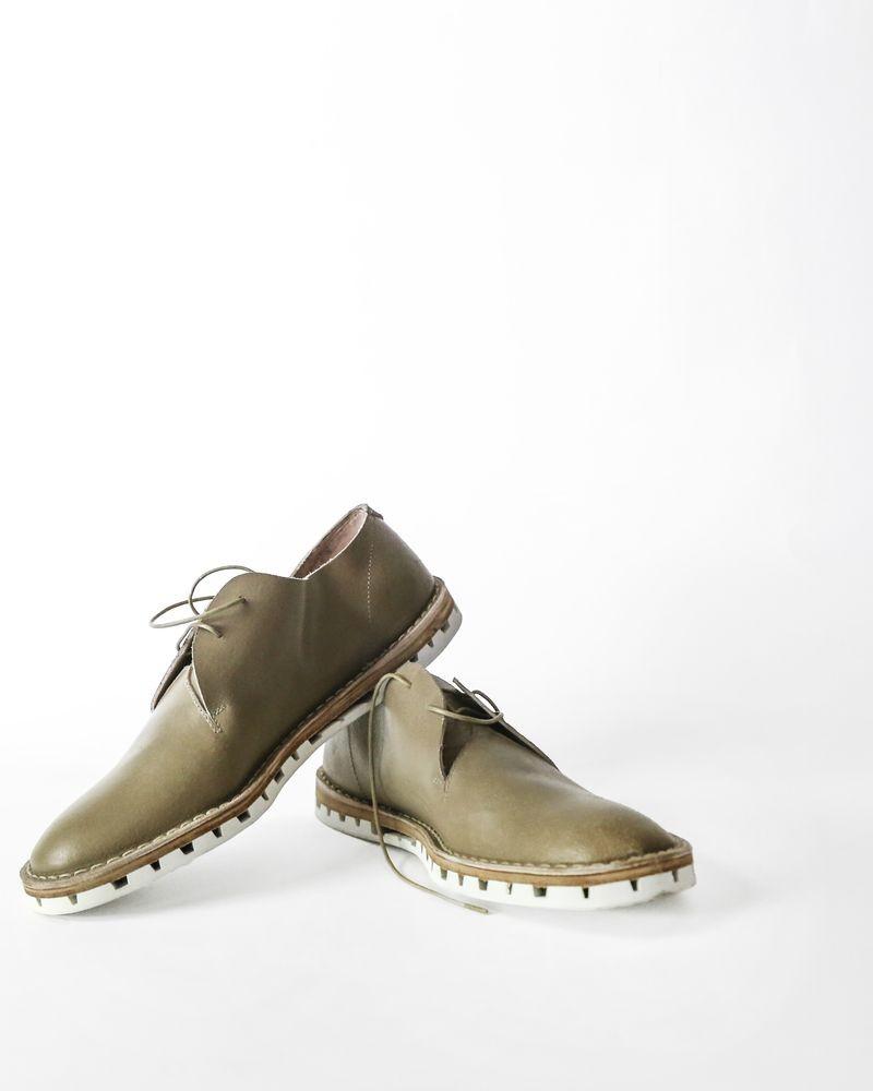 Chaussure beige en cuir Premiata