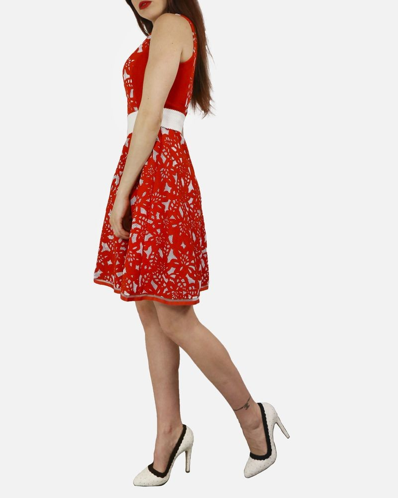 Robe rouge sans manches Maria Grazia Severi