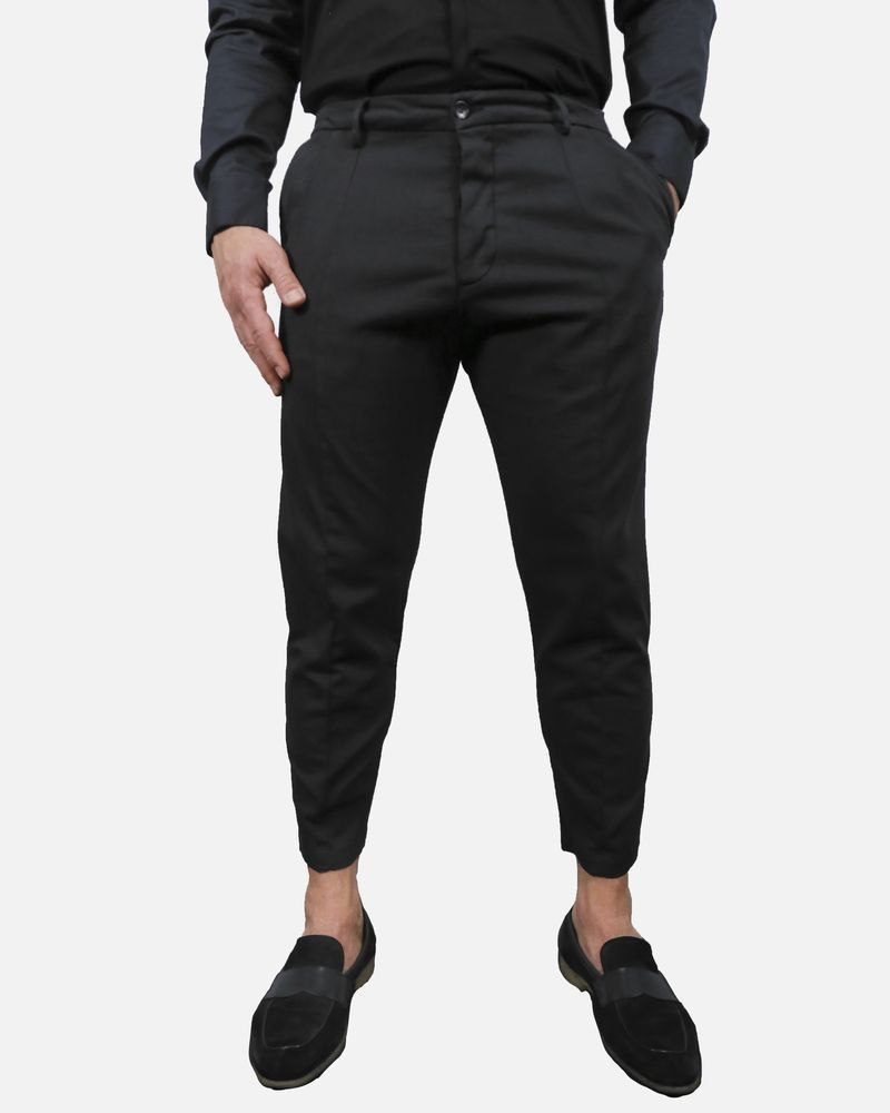 Pantalon chino en coton noir Low Brand