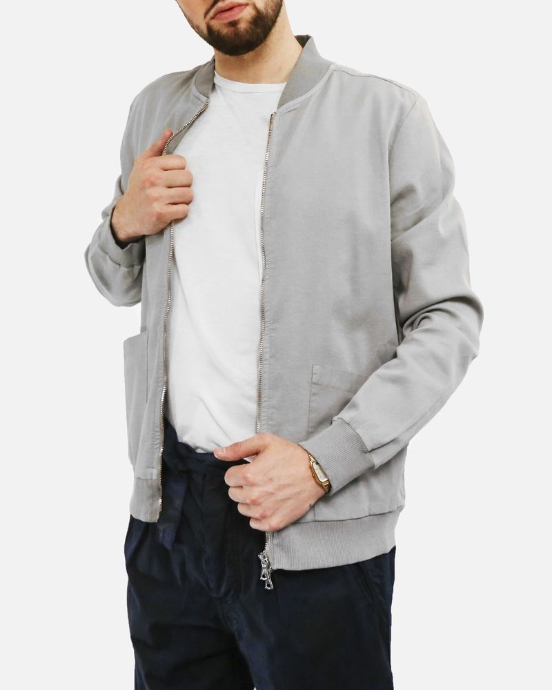 Veste gilet en coton gris Low Brand