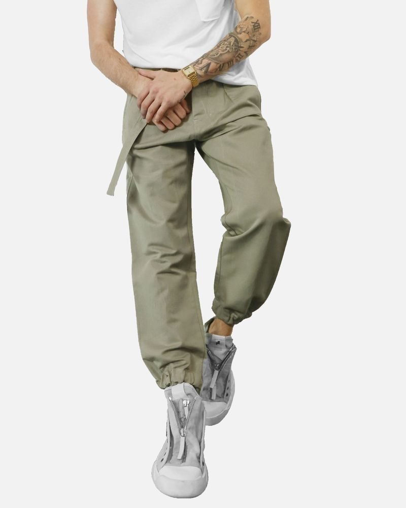 Pantalon chino smocké beige Low Brand