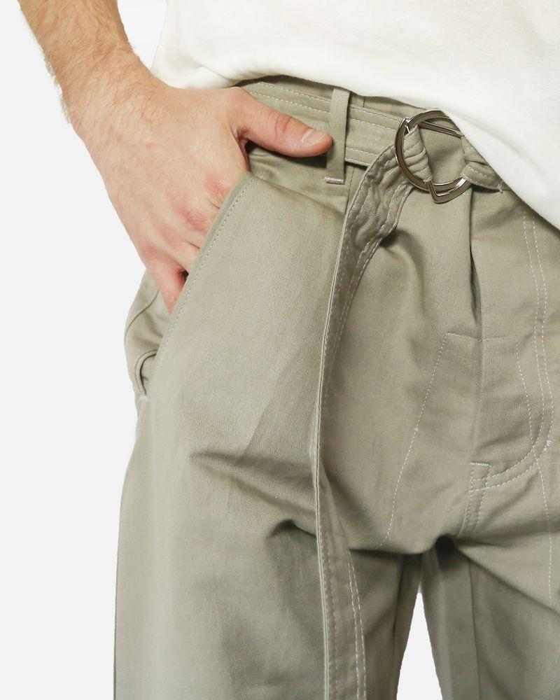 Pantalon chino smocké beige Low Brand