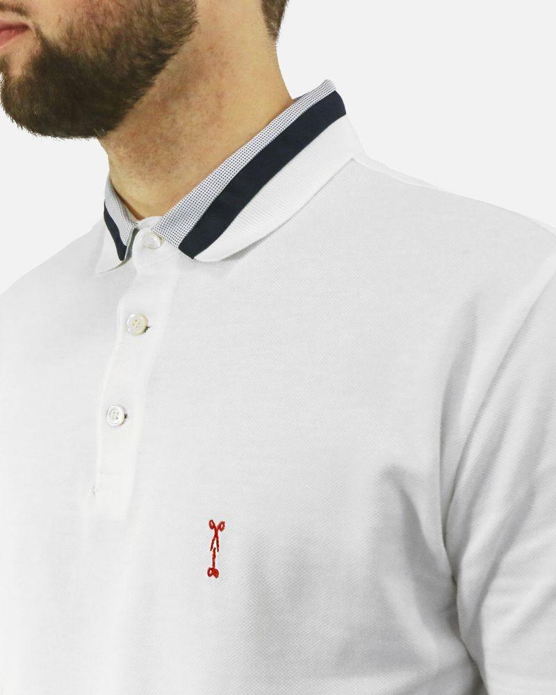 Polo en coton blanc piqué Marchand Drapier