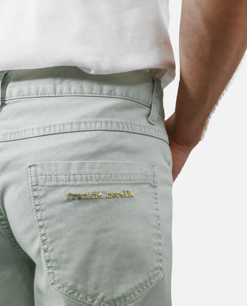 Short bermuda en coton bleu délavé Frankie Morello