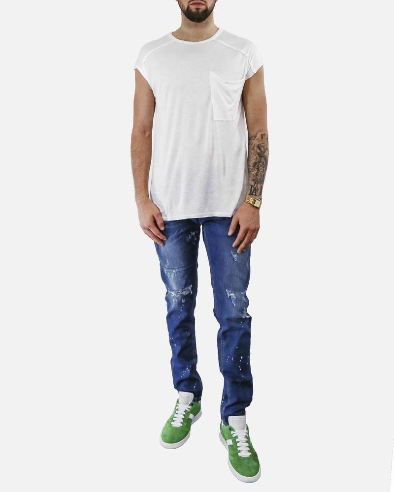 Jean skinny à tache de peinture blanche Low Brand
