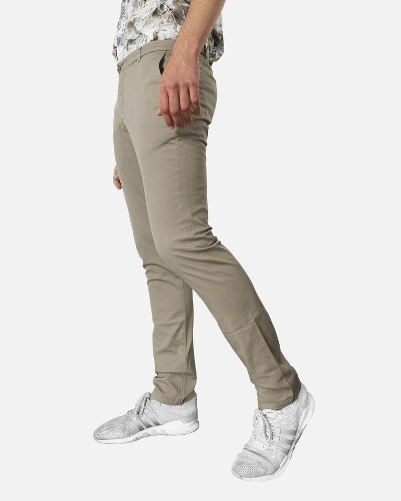 Pantalon régular fit en coton beige Marchand Drapier
