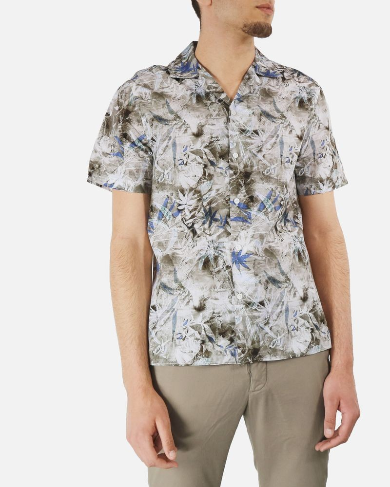 Chemise blanche à imprimé fleuris Edition M.R