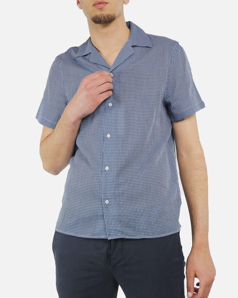 Chemise bleue à petit carreaux Edition M.R