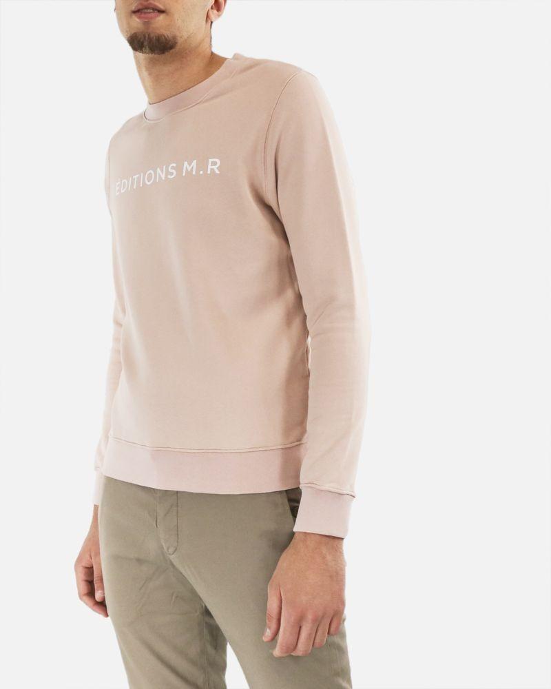 Sweat en coton rose à flocage Edition M.R